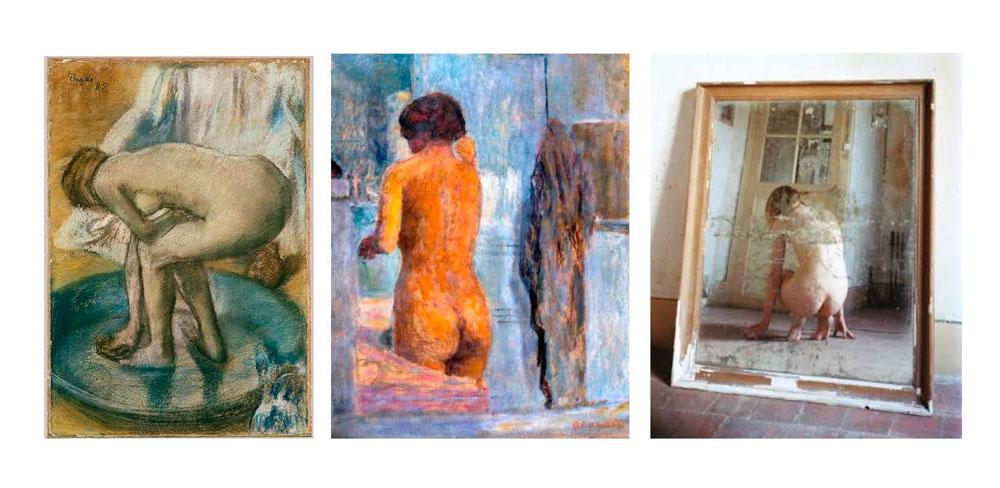 Three nude portraits by Degas, Bonnard & Elina Bortherus