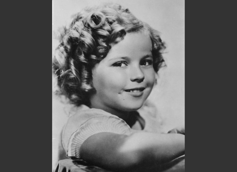 Black and white photograph of Shirley Temple