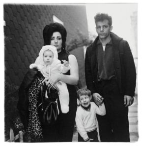 A young Brooklyn family going for a Sunday outing, N.Y.C. Arbus, 1966